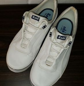 Womens White Keds Leather Sneakers